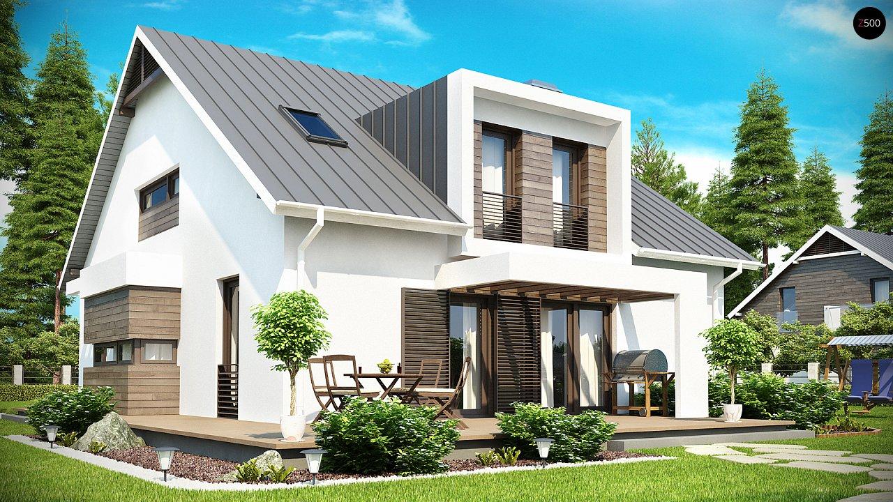 Стильный комфортный дом современного дизайна со встроенным гаражом. 2