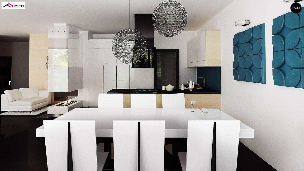 Проект современного двухэтажного дома с большой площадью. остекления. - фото 10
