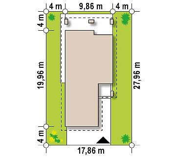 Одноэтажный дом в современном стиле с двойным гаражом план помещений 1