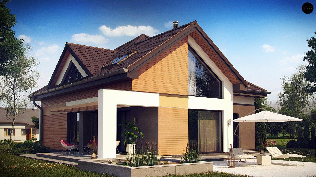 Необычные мансардные окна, фронтальный гараж и современные фасады выделяют этот проект среди остальных. 2
