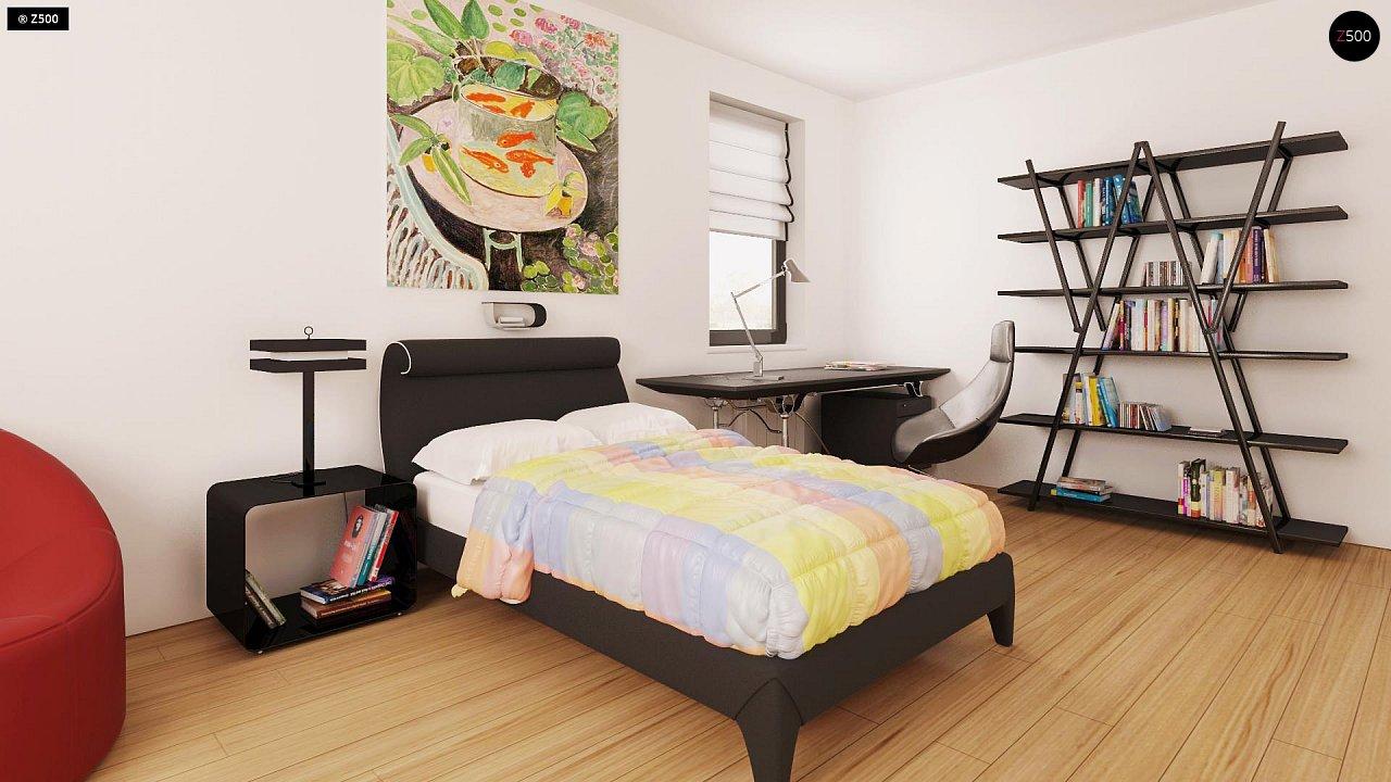 Практичный одноэтажный дом с гаражом для двух автомобилей и большим хозяйственным помещением. 10