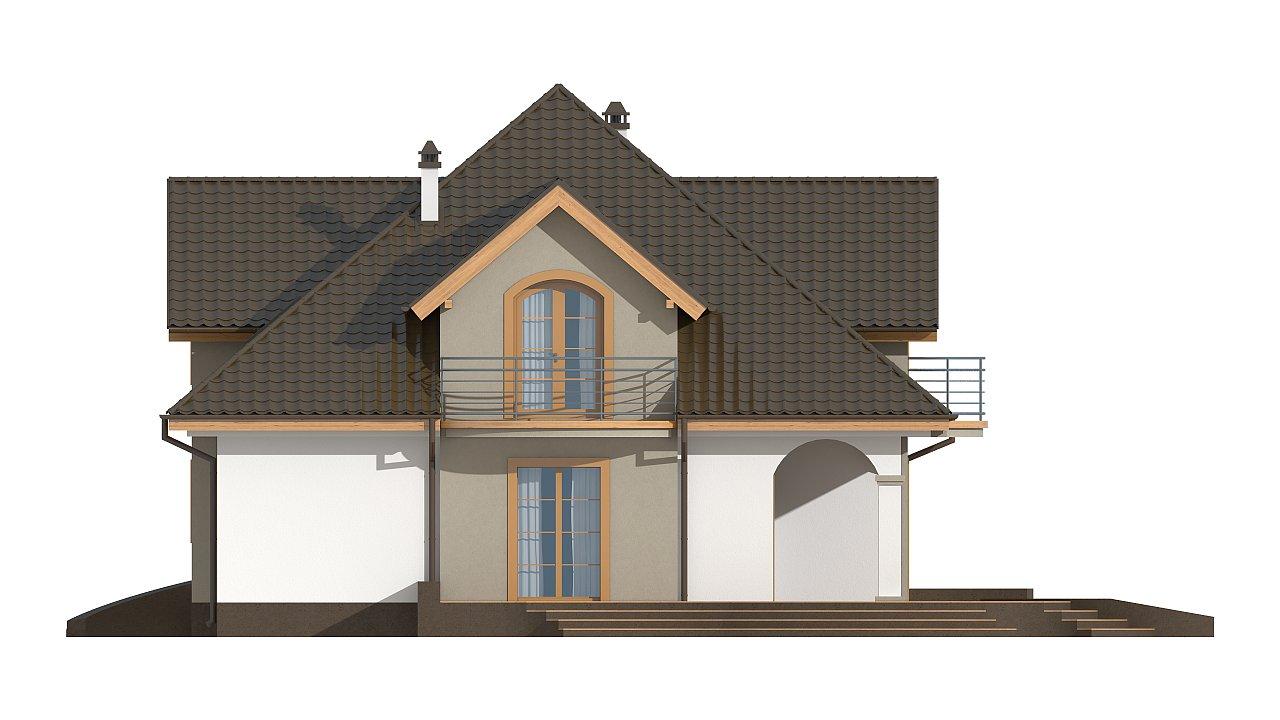 Классический мансардный дом с балконами. 27
