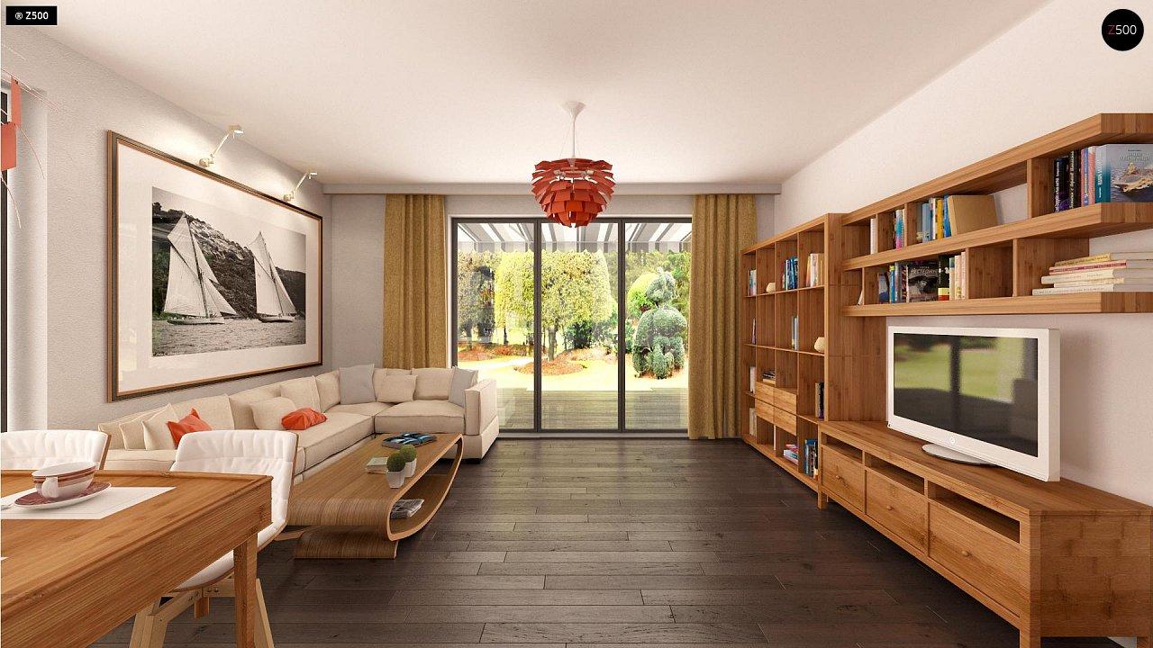 Аккуратный одноэтажный дом в классическом стиле. - фото 7