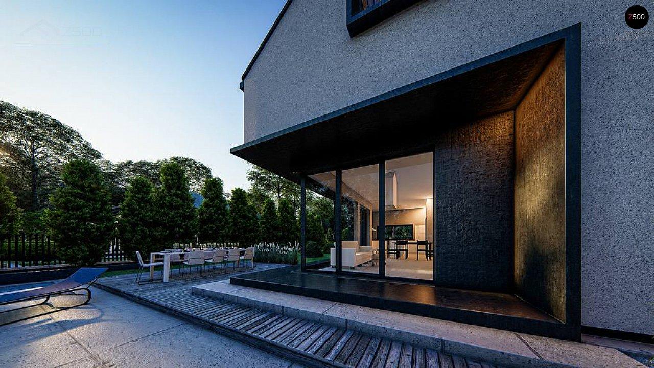 Современный дом с мансардой и двускатной крышей - фото 6