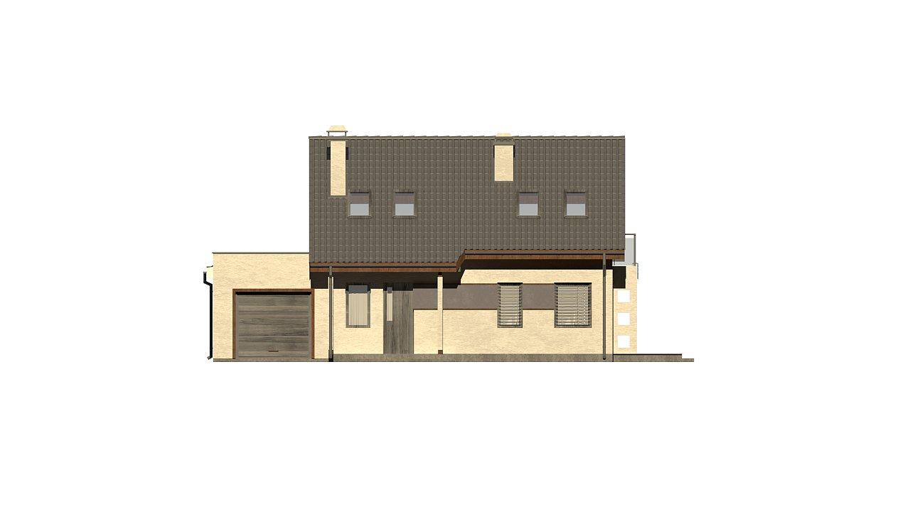 Вариант мансардного дома Z216 с гаражом на одну машину - фото 26