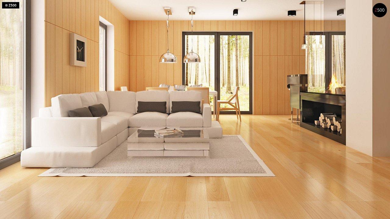 Современный эксклюзивный дом с каменной облицовкой, подходящий для узкого участка. 3