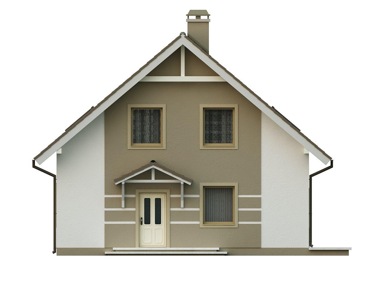 Стильный дом с мансардой, экономичный в строительстве и эксплуатации. 3