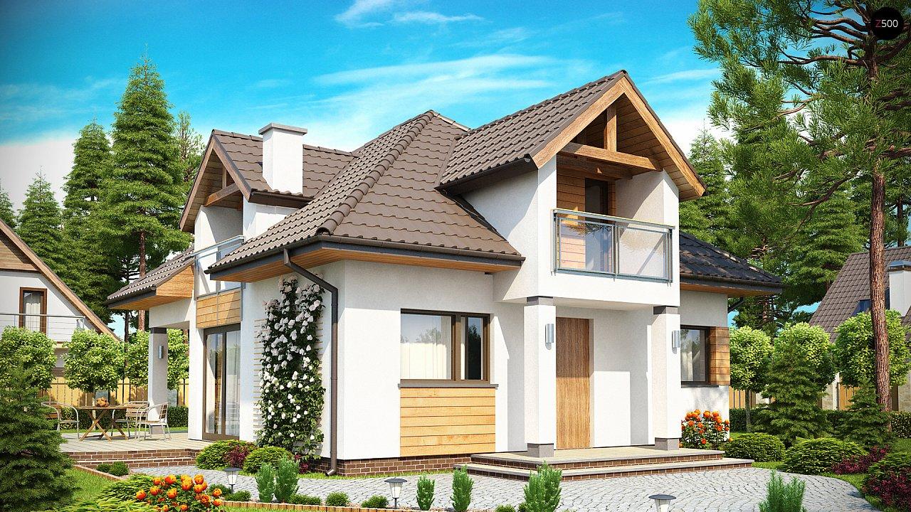 Проект практичного и уютного традиционного дома. 1