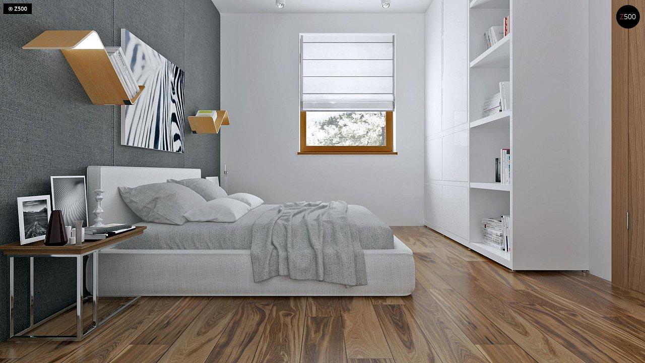 Аккуратный одноэтажный дом с деревянной облицовкой фасадов, адаптированный для каркасной технологии. 8