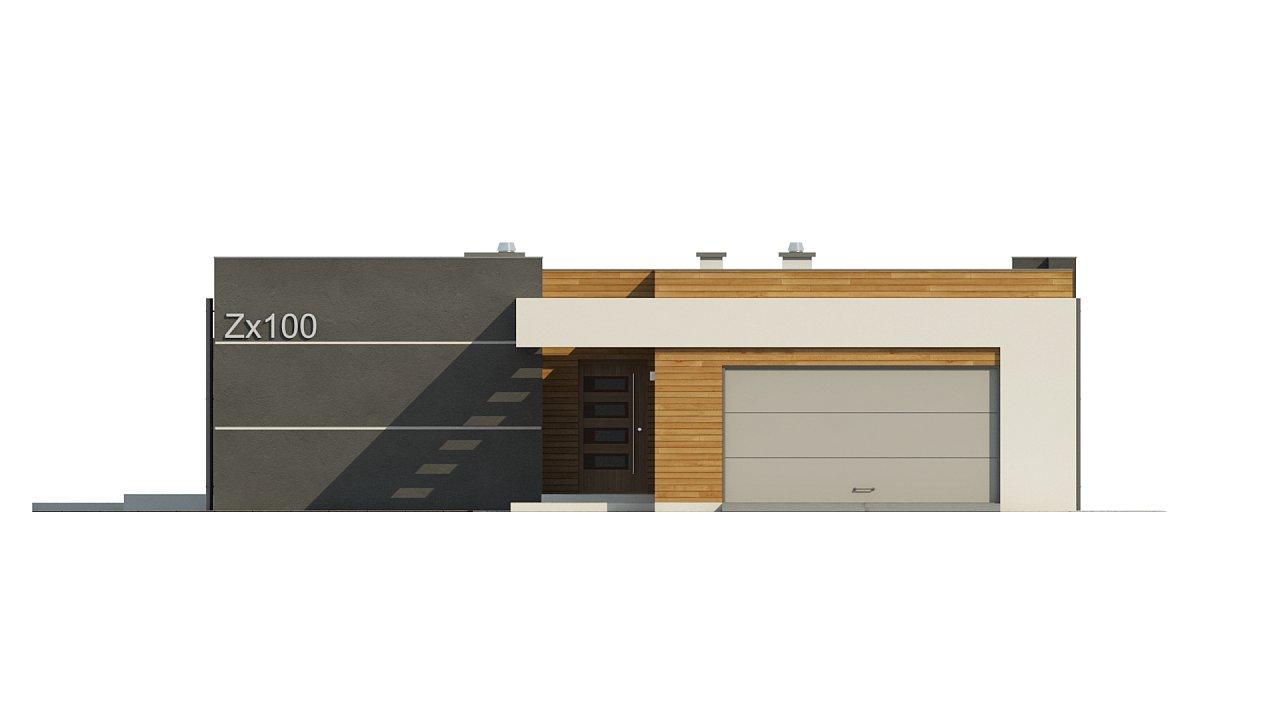 Одноэтажный дом модернистского характера с гаражом для двух автомобилей. 22