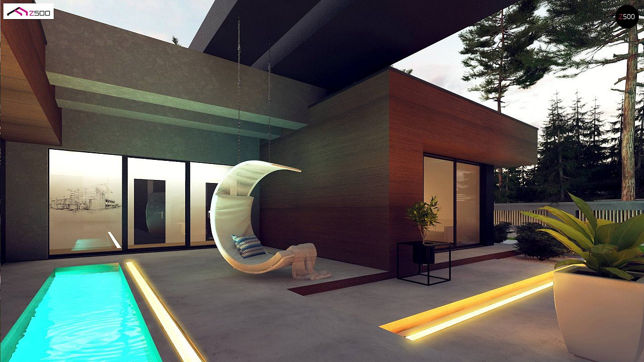 Современный дом с одноуровневой планировкой для большой семьи. - фото 4