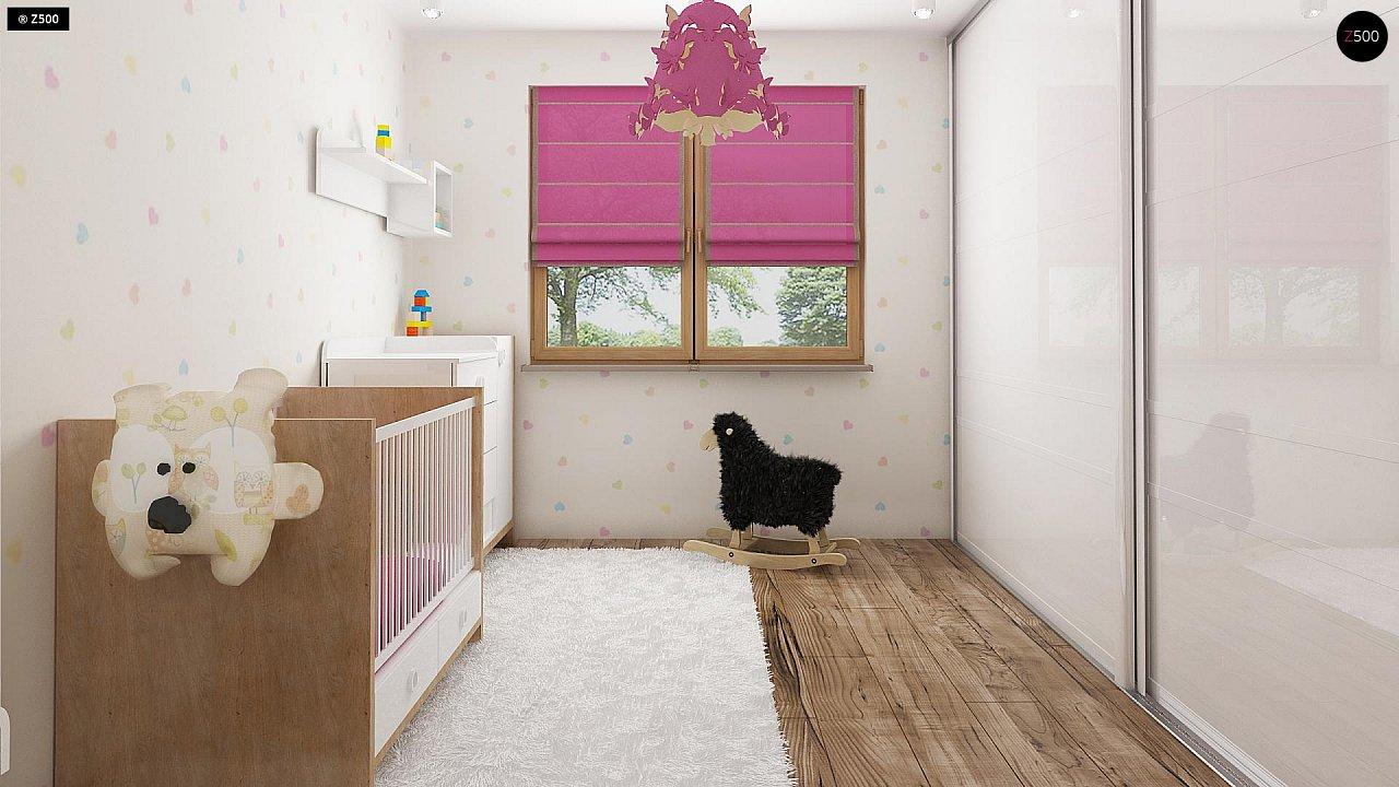 Проект комфортного дома с большим гаражом и дополнительной спальней на первом этаже. 11