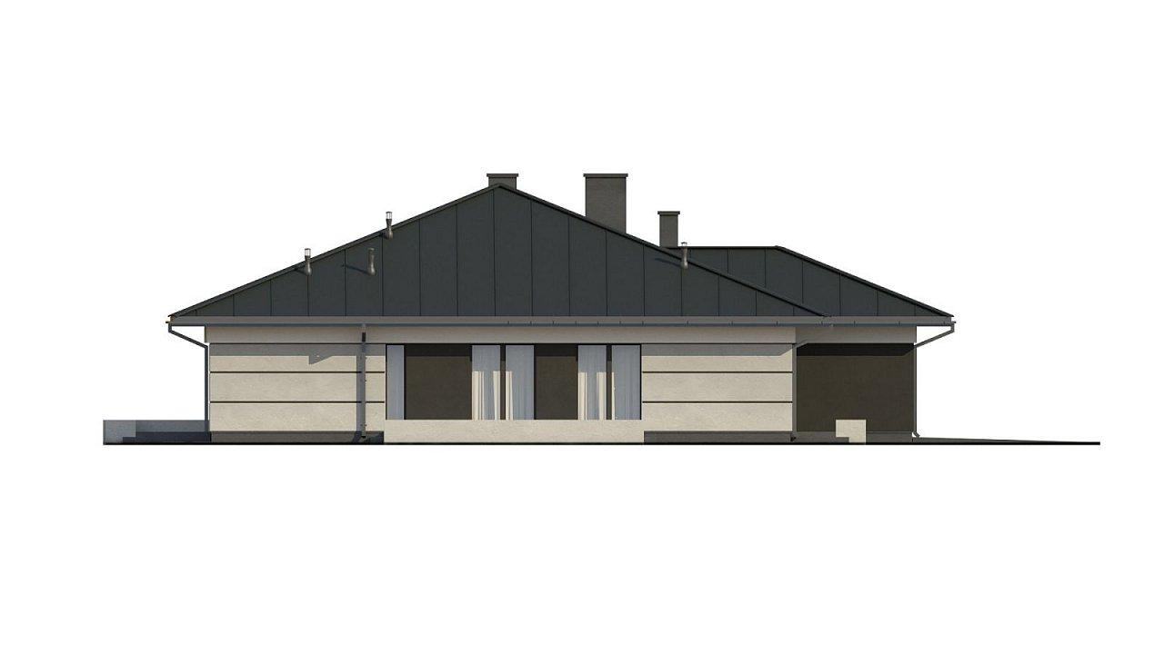 Проект одноэтажного дома с гаражом на две машины - фото 18