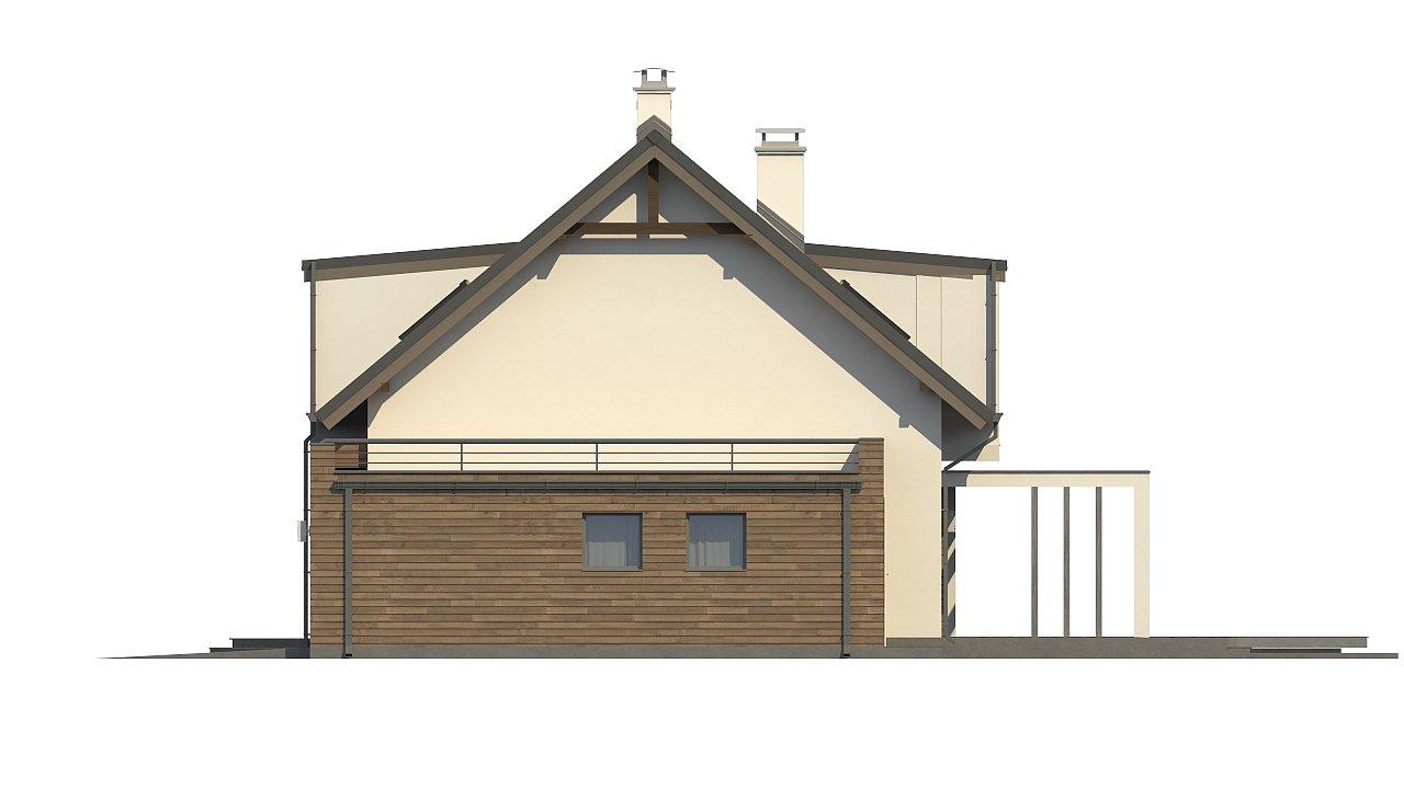 Стильный дом с оригинальными мансардными окнами, с гаражом и кабинетом на первом этаже. - фото 5