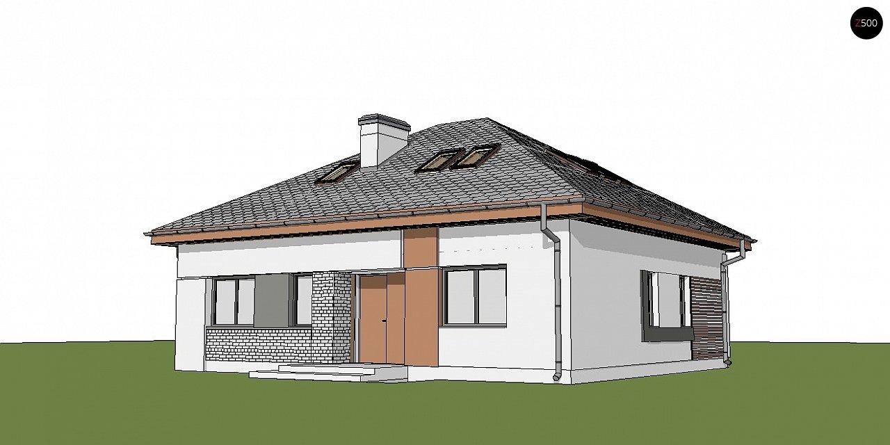 Версия проекта Z273 с жилой мансардой, с увеличенной высотой аттиковой стены. - фото 5