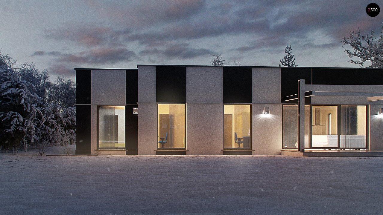 Одноэтажный комфортный дом в стиле хай-тек. 5