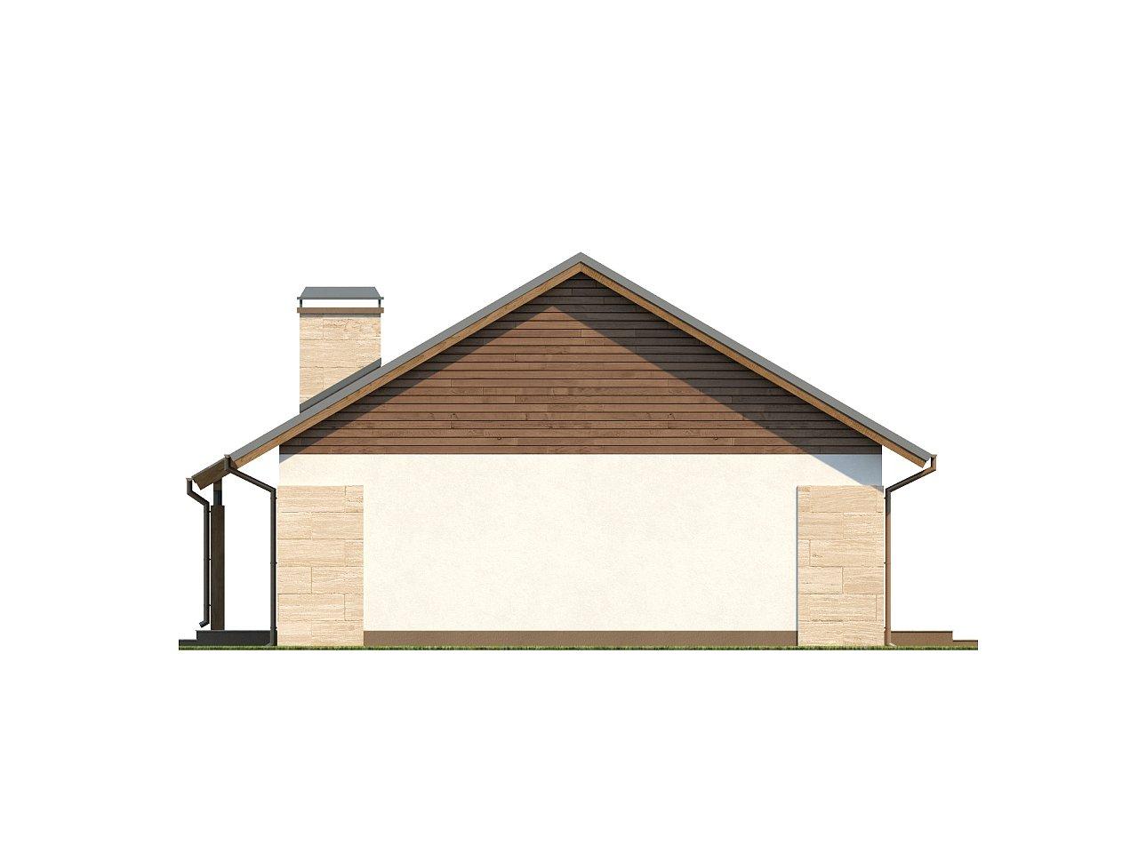 Проект выгодного одноэтажного дома с возможностью адаптации чердачного помещения. 19