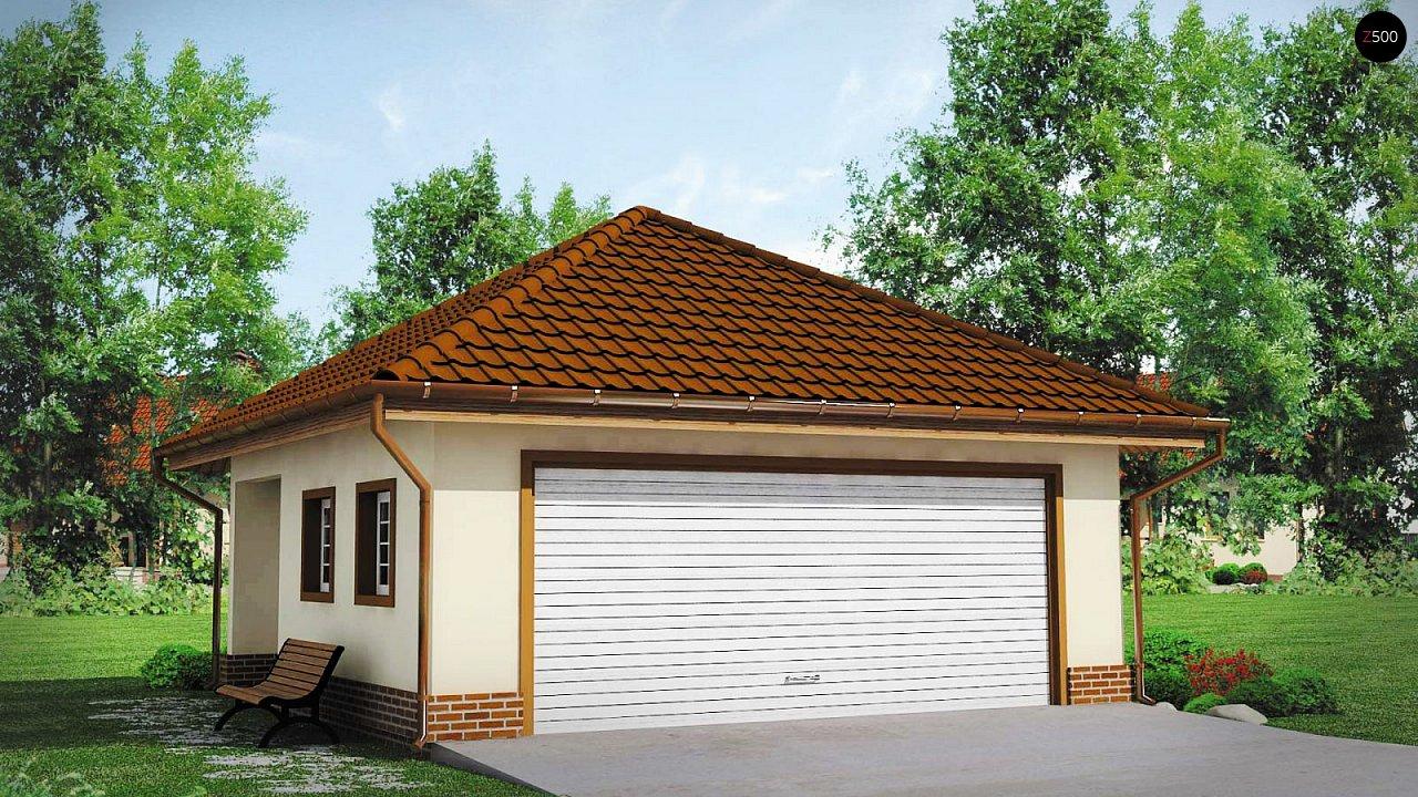 Современный проект просторного гаража для двух авто 1