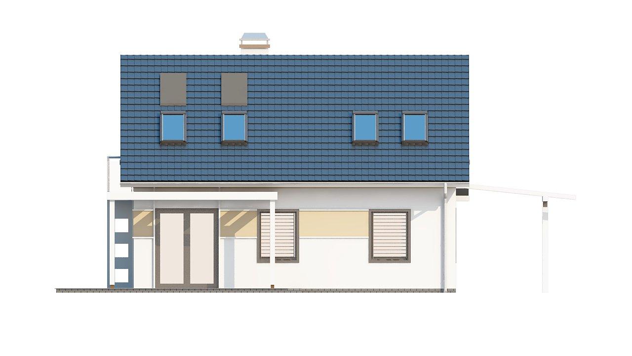 Экономичный в строительстве и реализации дом с удобной планировкой, с навесом для автомобиля. - фото 23