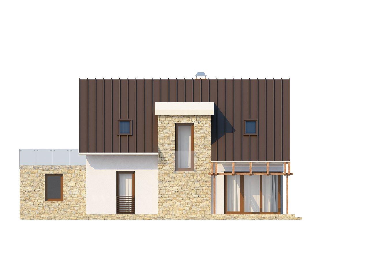 Уютный дом с кабинетом на первом этаже, оригинальным мансардным окном и террасой над гаражом. 4