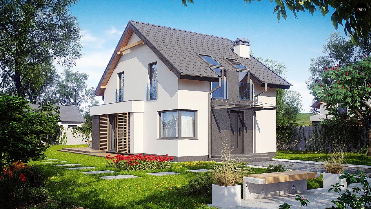 Дом простой энергосберегающей формы со светлым интерьером, подходящий для узкого участка. - фото 2