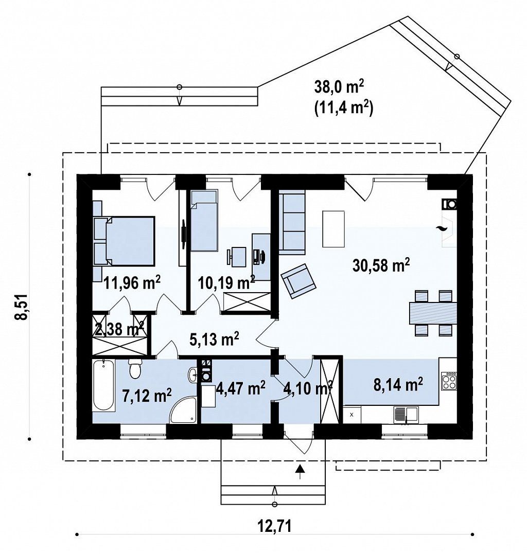 Компактный Z313 сочетание в себе функциональность, экономичность и практичность. план помещений 1