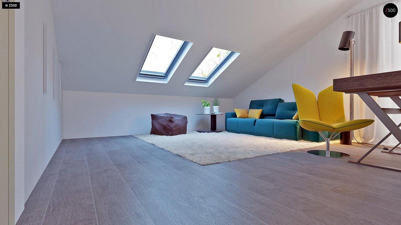 Проект функционального и удобного дома с комнатой над гаражом. 20