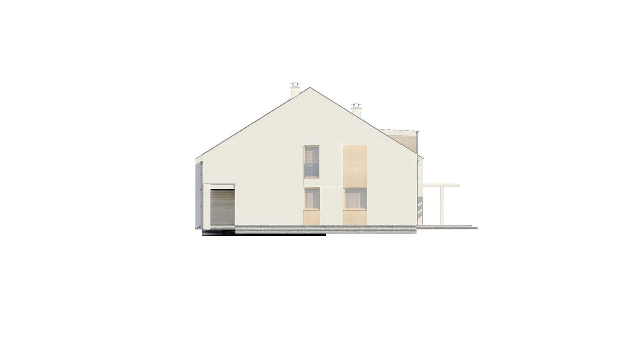 Проект домов для симметричной застройки стильного современного дизайна. 4