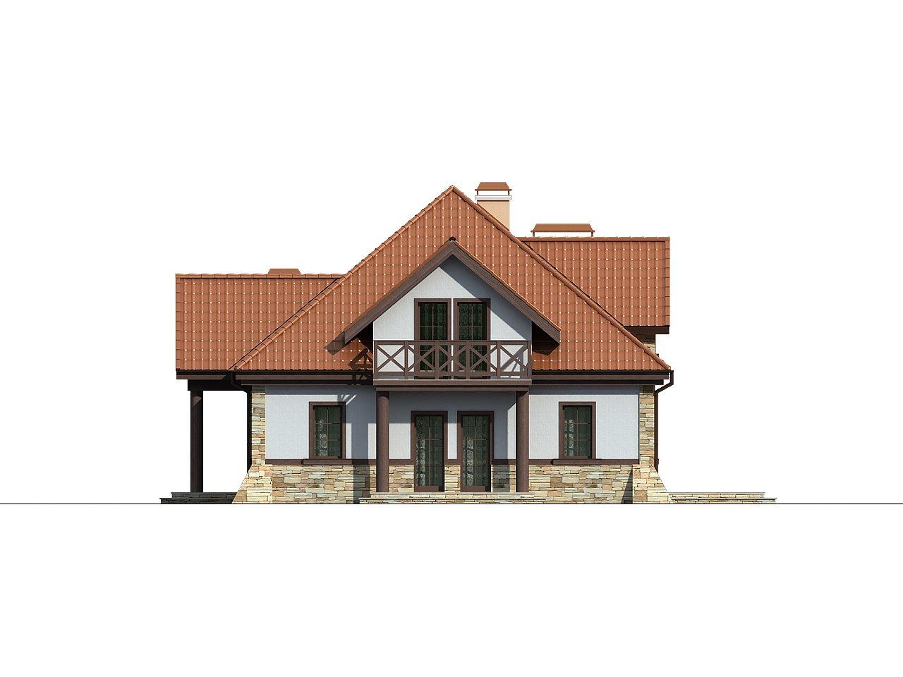 Проект двухсемейного дома в стиле дворянской усадьбы. - фото 6