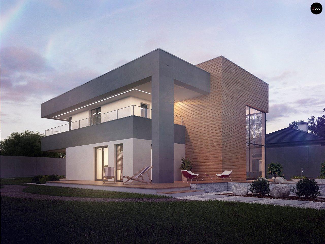 Современный двухэтажный дом с большой площадью остекления. - фото 3