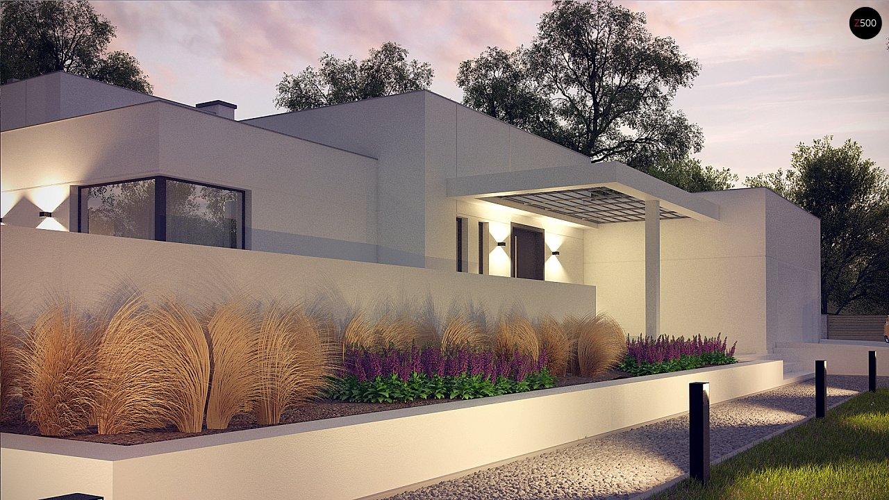Современный проект с уникальным дизайном, оштукатуренным фасадом и гаражом 11