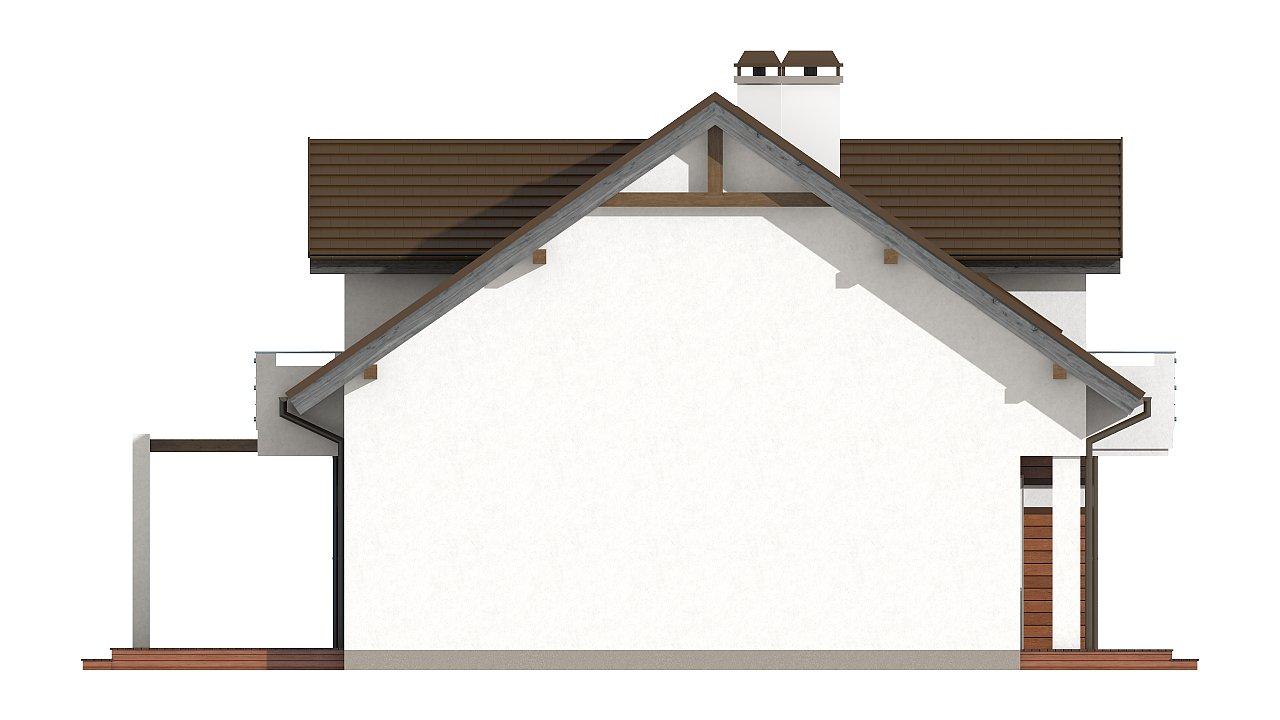Версия проекта Z28 с небольшими изменениями в планировке, современным дизайном фасадов. - фото 6