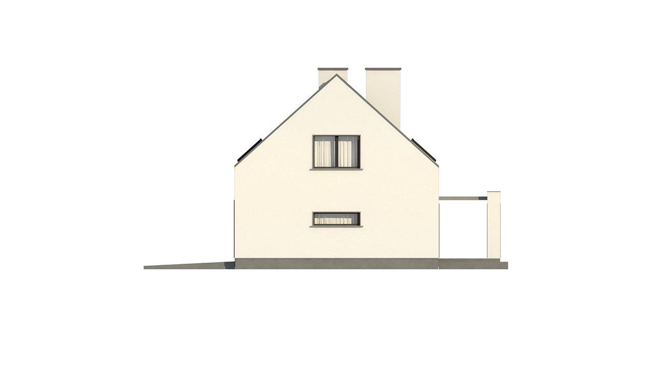 Проект мансардного с тремя спальнями и двускатной крышей 11