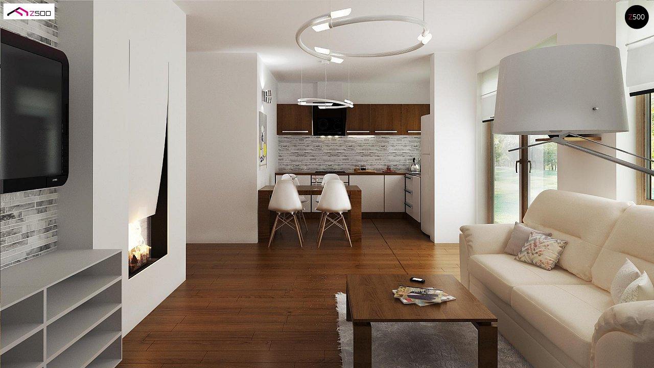 Выгодный в строительстве и эксплуатации маленький одноэтажный дом с крытой террасой. 3