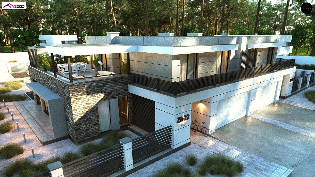 Современный большой дом с плоской крышей - фото 7