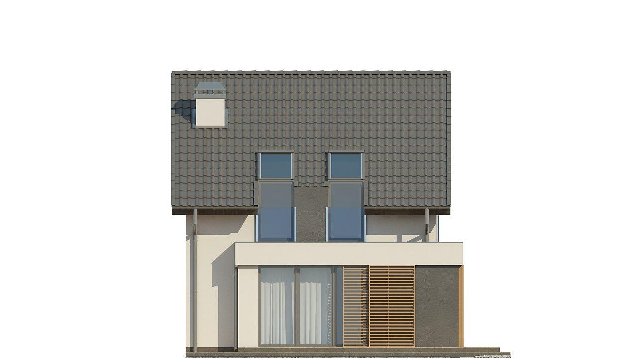 Дом простой энергосберегающей формы со светлым интерьером, подходящий для узкого участка. - фото 14