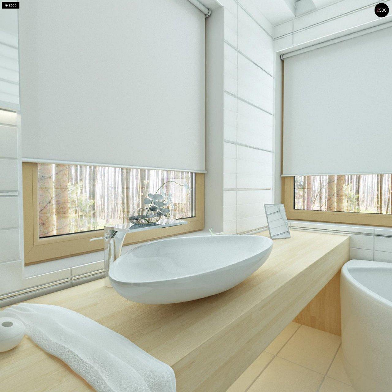Двухэтажный дом, сочетающий традиционные формы и современный дизайн, с тремя спальнями и гаражом. 17