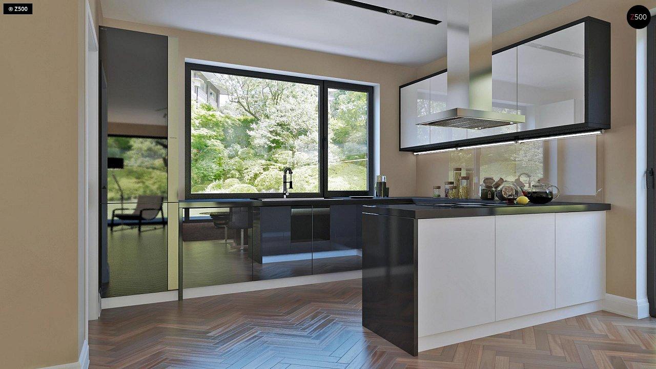 Аккуратный дом простой традиционной формы с гаражом и дополнительной спальней на первом этаже. 7