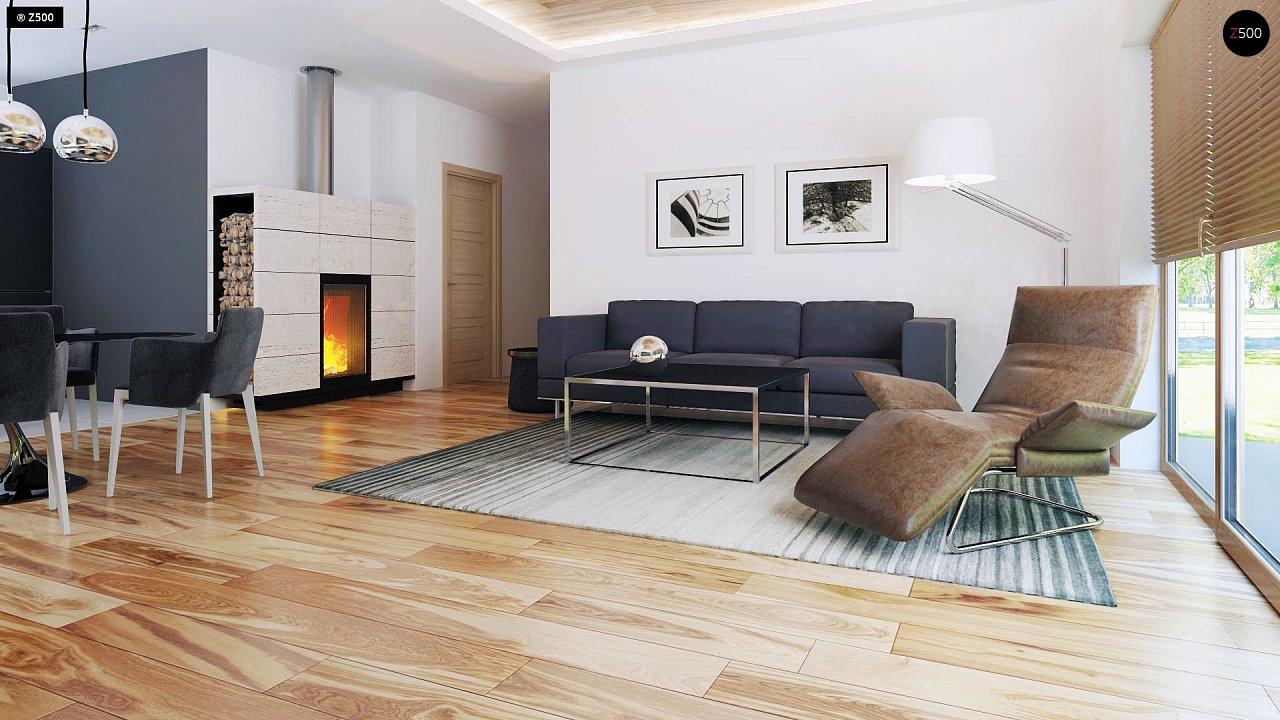 Небольшой дом из газобетона в стиле хай-тек — элегантный, практичный и экономичный. - фото 4