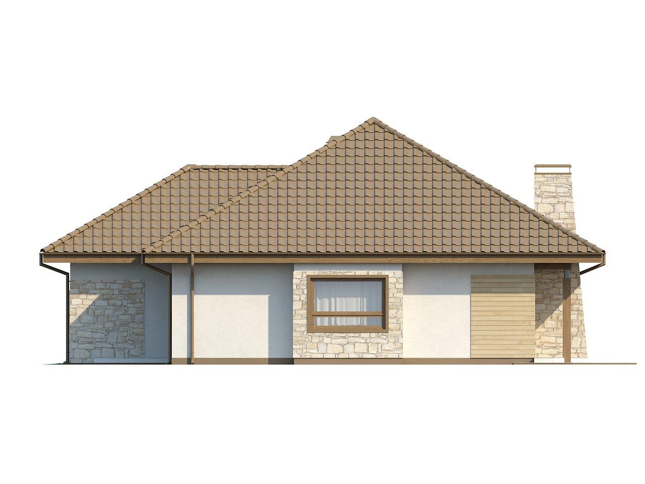Одноэтажный удобный дом с фронтальным гаражом, с возможностью обустройства мансарды. - фото 17