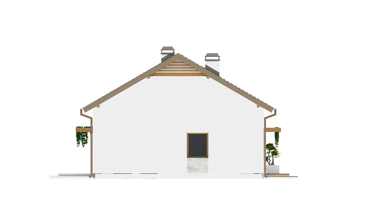 Проект небольшого практичного одноэтажного дома. Есть возможность обустройства чердачного помещения. 24