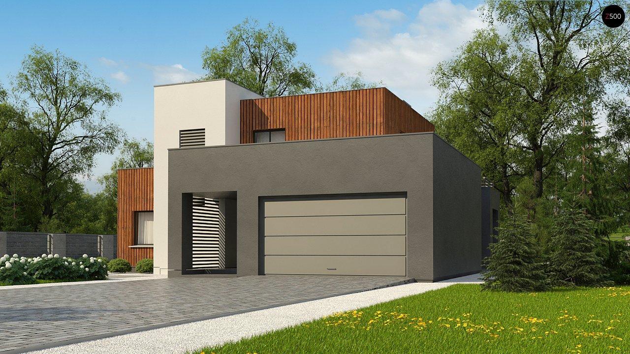 Современный дом с гаражом на 2 машины и террасой на первой 1