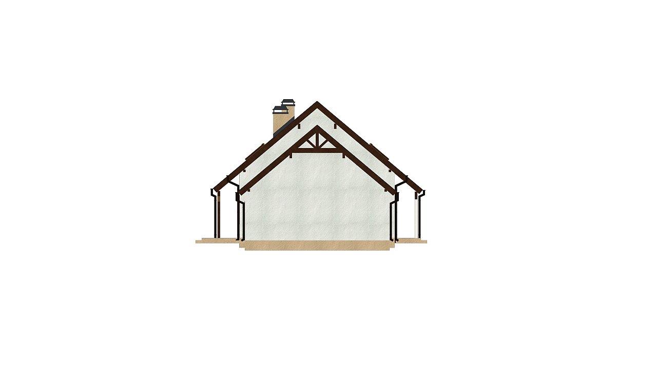 Вариант проекта Z162 с гаражом с левой стороны, с нежилой мансардой над гаражом. - фото 4