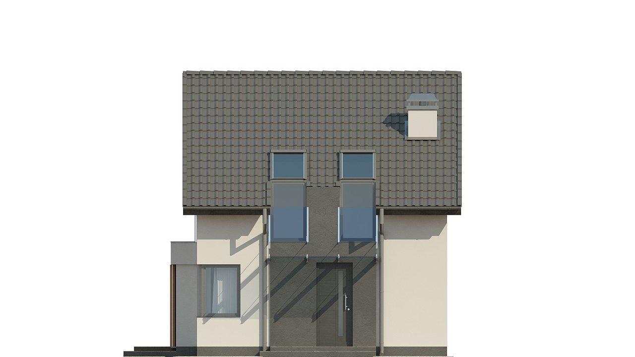 Дом простой энергосберегающей формы со светлым интерьером, подходящий для узкого участка. - фото 12