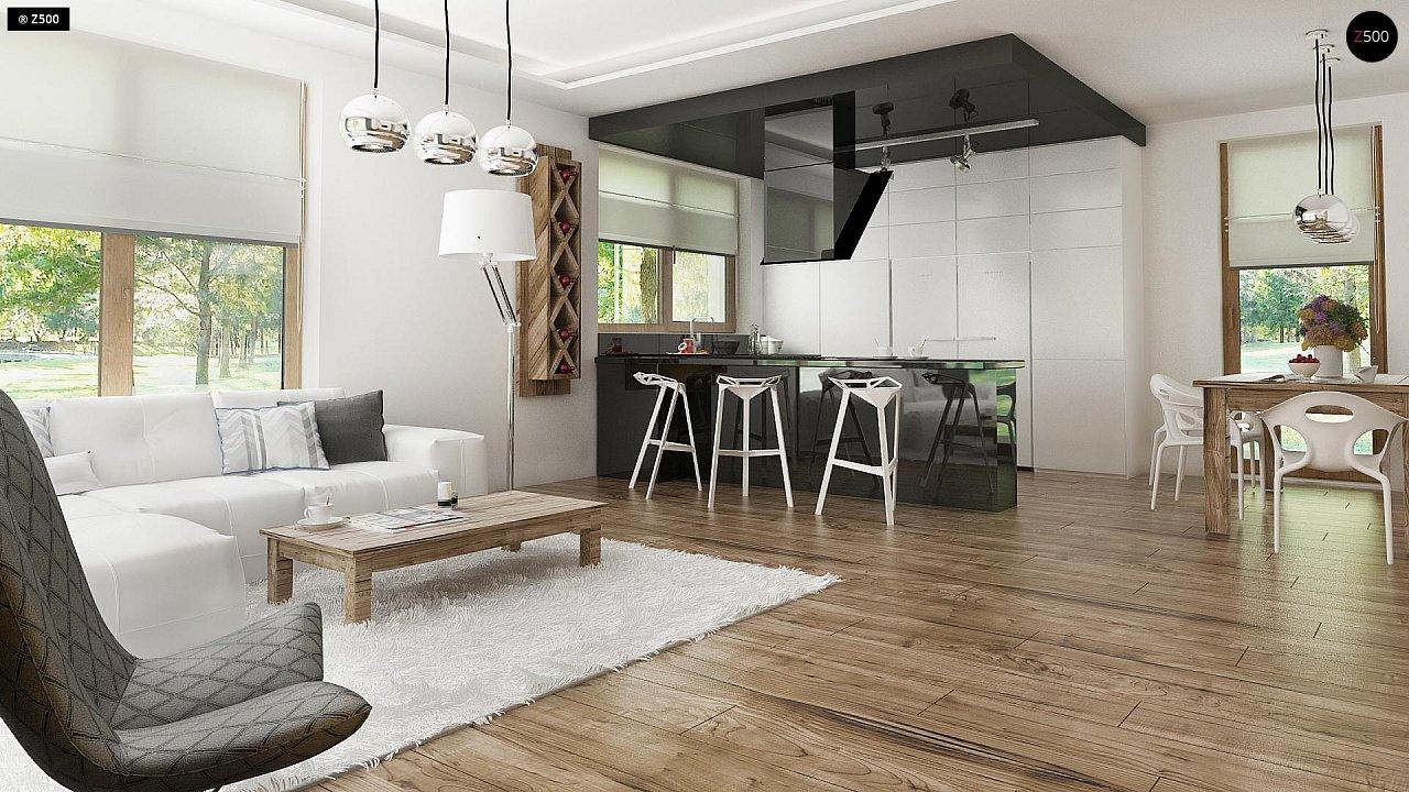 Проект современного дома в стиле хай-тек с двумя спальнями. - фото 12