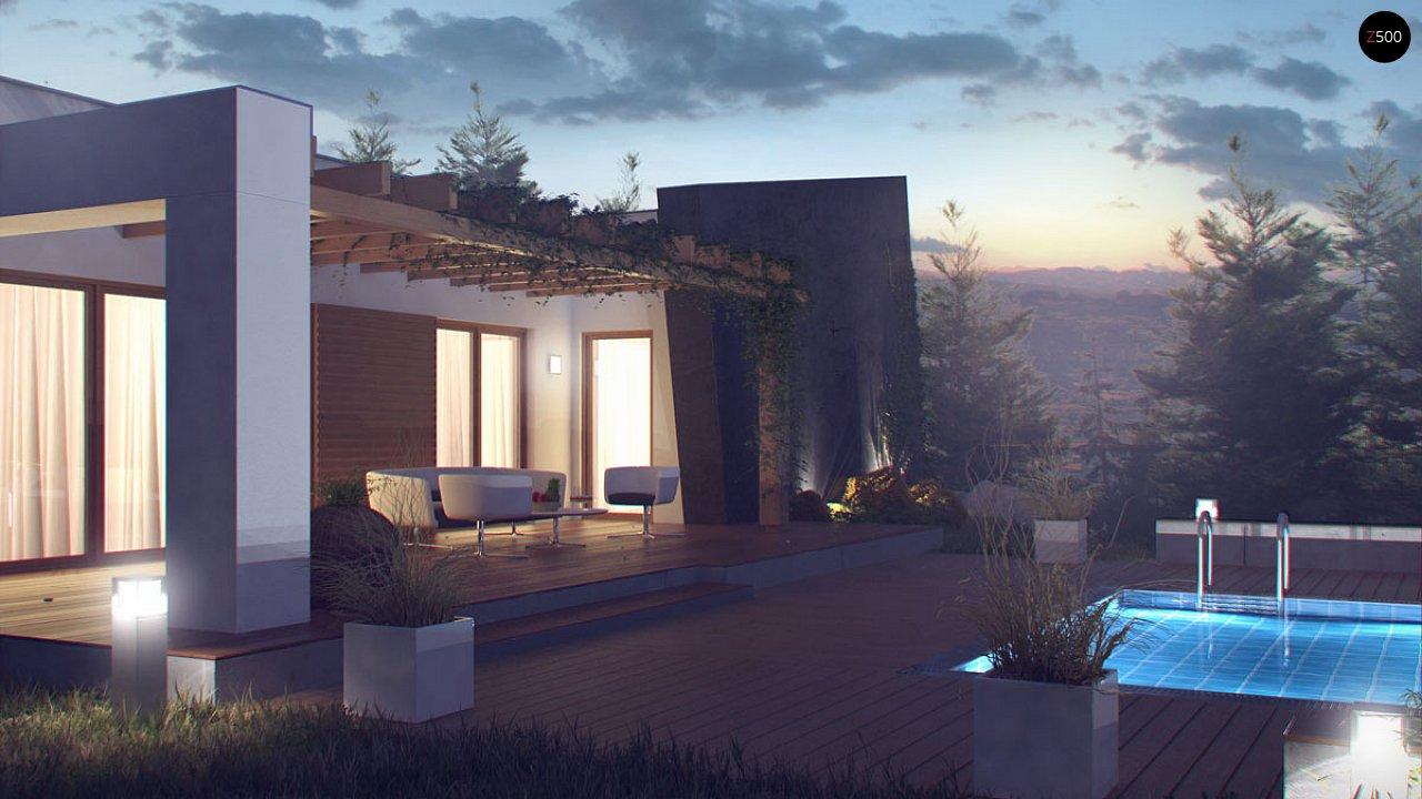 Одноэтажный дом исключительного современного дизайна. - фото 12