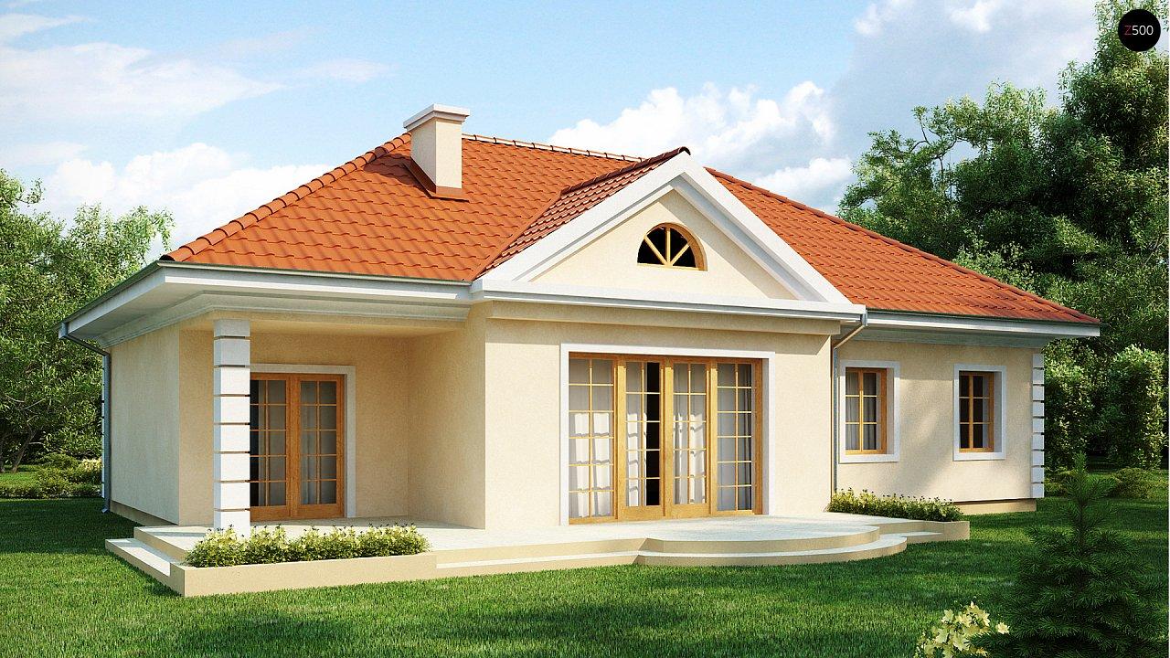 Проект в стиле дворянской усадьбы с возможностью обустройства чердачного помещения. 2