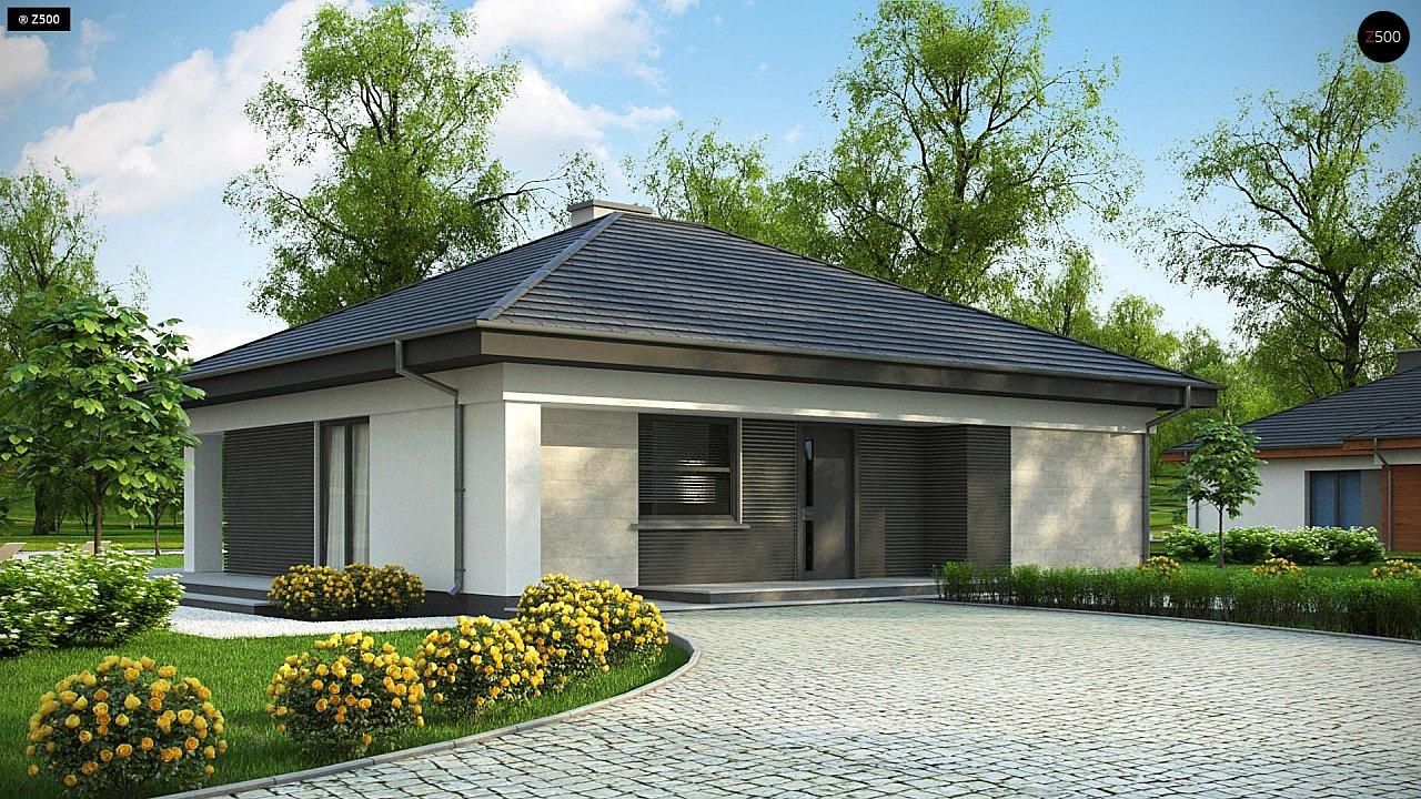 Проект компактного и функционального одноэтажного дома 2