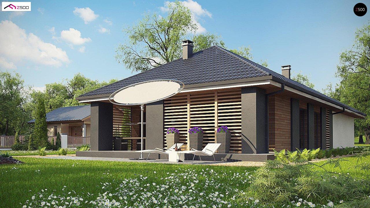 Одноэтажный дом в современном стиле с двойным гаражом 9