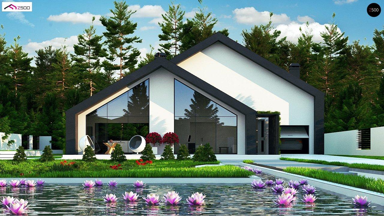 Современный мансардный дом со вторым светом - фото 1